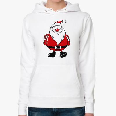 Женская толстовка худи Санта Клаус
