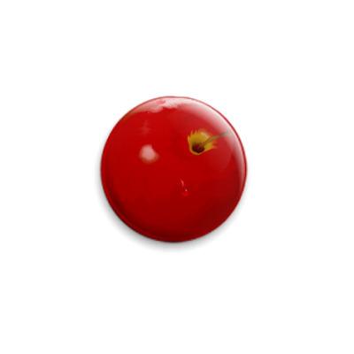 Значок 25мм  яблоко