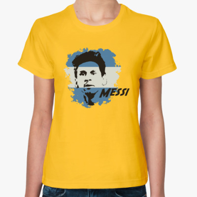 Женская футболка Месси