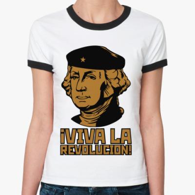 Женская футболка Ringer-T Revolucion