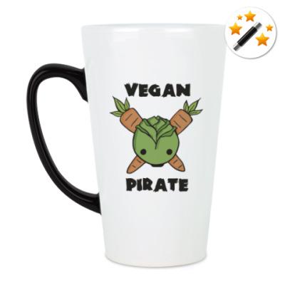 Кружка-хамелеон Веган пират