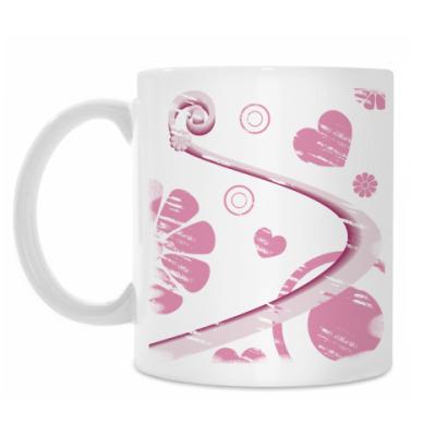 Кружка Розовая абстракция