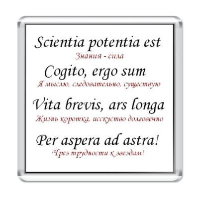 Магнит Пословицы на латинском языке