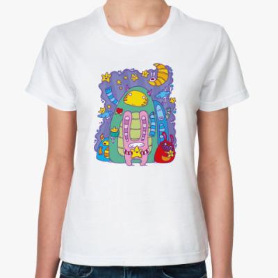Классическая футболка Звезная ночь