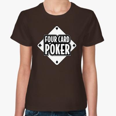 Женская футболка Four Card Poker