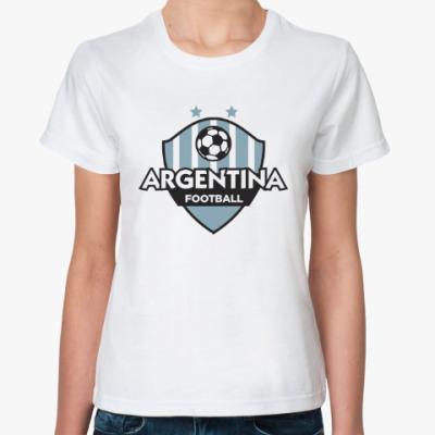 Классическая футболка Футбол Аргентины