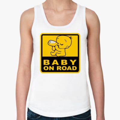 Женская майка Baby On Road