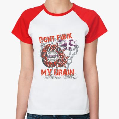 Женская футболка реглан DFMB  Ж (б/к)