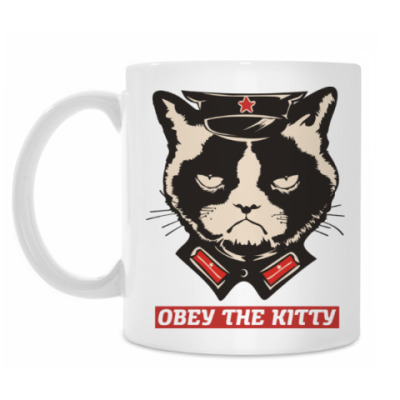 Кружка Obey the kitty