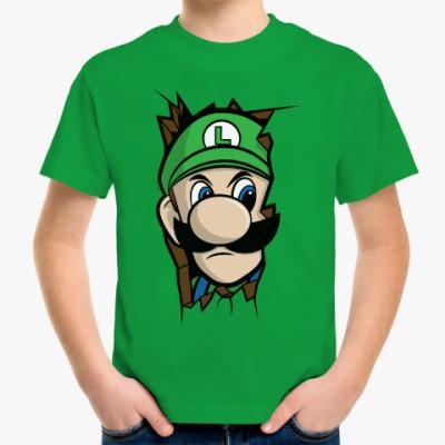 Детская футболка Луиджи Марио