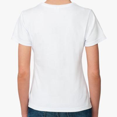 Женская футболка «Рай в челове