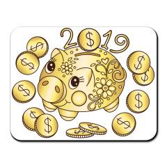 Коврик для мыши с символом года - Золотая копилка 2019