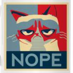 Grumpy cat - NOPE