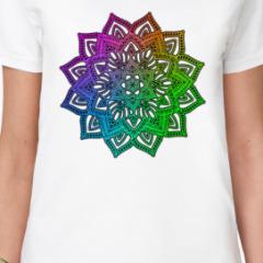 Мандала разноцветная
