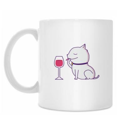 Кружка смешной кот
