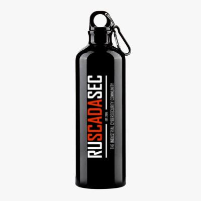 Спортивная бутылка с гравировкой Спортивная бутылка RUSCADASEC (гравировка), чёрная