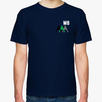 Мужская футболка Fruit of the Loom, темно-синяя на printdirect.ru