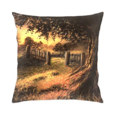 Подушка Солнечный пейзаж
