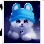 Котенок в шапочке